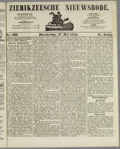 Zierikzeesche Nieuwsbode 1852-05-27
