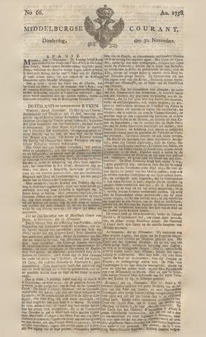 Middelburgsche Courant 1758-11-30