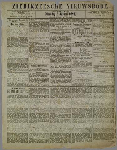 Zierikzeesche Nieuwsbode 1893-01-02