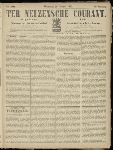 Ter Neuzensche Courant. Algemeen Nieuws- en Advertentieblad voor Zeeuwsch-Vlaanderen / Neuzensche Courant ... (idem) / (Algemeen) nieuws en advertentieblad voor Zeeuwsch-Vlaanderen 1890-02-26