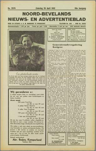 Noord-Bevelands Nieuws- en advertentieblad 1952-04-26