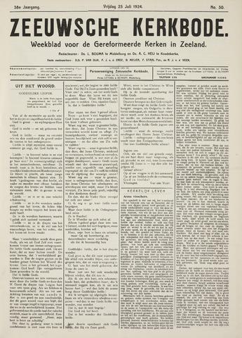 Zeeuwsche kerkbode, weekblad gewijd aan de belangen der gereformeerde kerken/ Zeeuwsch kerkblad 1924-07-25