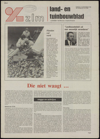 Zeeuwsch landbouwblad ... ZLM land- en tuinbouwblad 1990-09-21