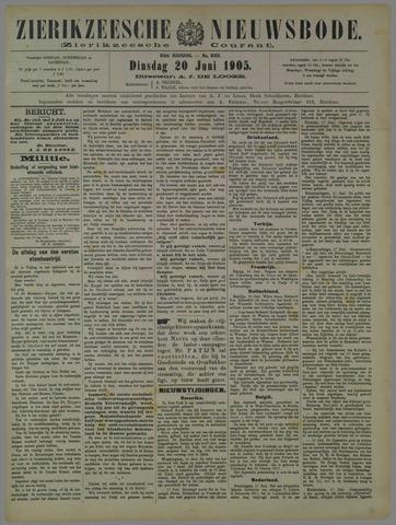 Zierikzeesche Nieuwsbode 1905-06-20