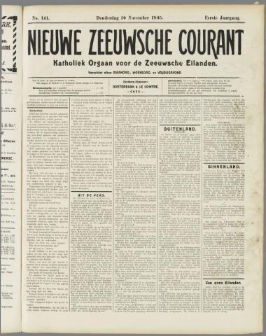 Nieuwe Zeeuwsche Courant 1905-11-30