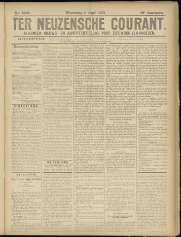 Ter Neuzensche Courant. Algemeen Nieuws- en Advertentieblad voor Zeeuwsch-Vlaanderen / Neuzensche Courant ... (idem) / (Algemeen) nieuws en advertentieblad voor Zeeuwsch-Vlaanderen 1928-04-11