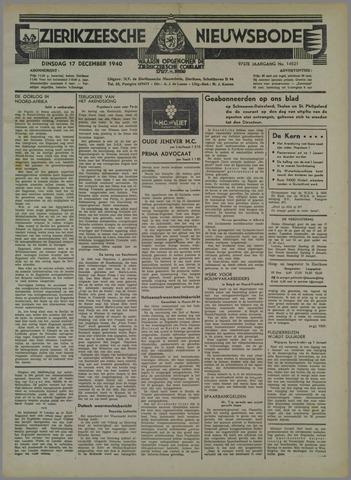 Zierikzeesche Nieuwsbode 1940-12-17