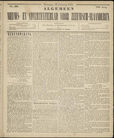 Ter Neuzensche Courant. Algemeen Nieuws- en Advertentieblad voor Zeeuwsch-Vlaanderen / Neuzensche Courant ... (idem) / (Algemeen) nieuws en advertentieblad voor Zeeuwsch-Vlaanderen 1870-02-23