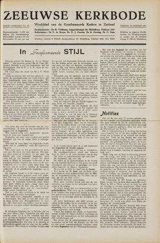 Zeeuwsche kerkbode, weekblad gewijd aan de belangen der gereformeerde kerken/ Zeeuwsch kerkblad 1951-01-26