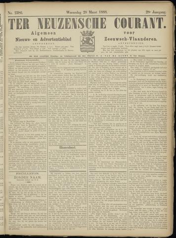 Ter Neuzensche Courant. Algemeen Nieuws- en Advertentieblad voor Zeeuwsch-Vlaanderen / Neuzensche Courant ... (idem) / (Algemeen) nieuws en advertentieblad voor Zeeuwsch-Vlaanderen 1888-03-28