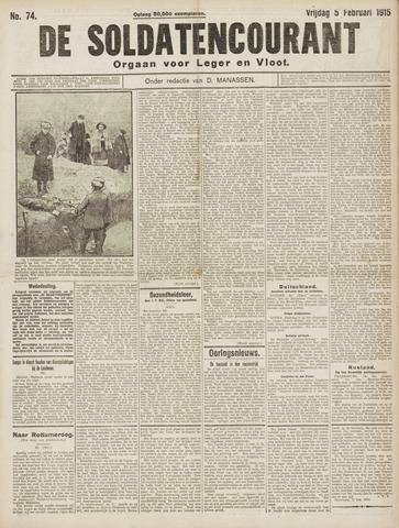 De Soldatencourant. Orgaan voor Leger en Vloot 1915-02-05