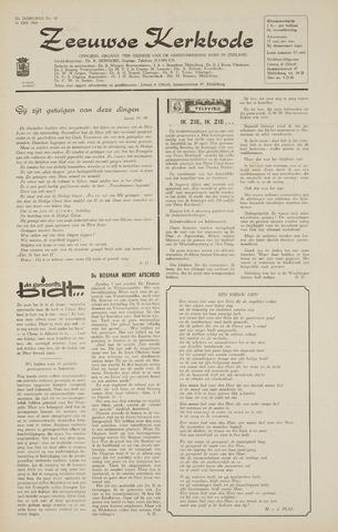 Zeeuwsche kerkbode, weekblad gewijd aan de belangen der gereformeerde kerken/ Zeeuwsch kerkblad 1968-05-16