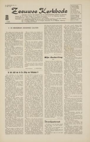 Zeeuwsche kerkbode, weekblad gewijd aan de belangen der gereformeerde kerken/ Zeeuwsch kerkblad 1964-05-29