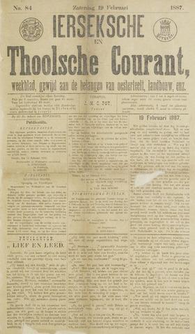 Ierseksche en Thoolsche Courant 1887-02-19