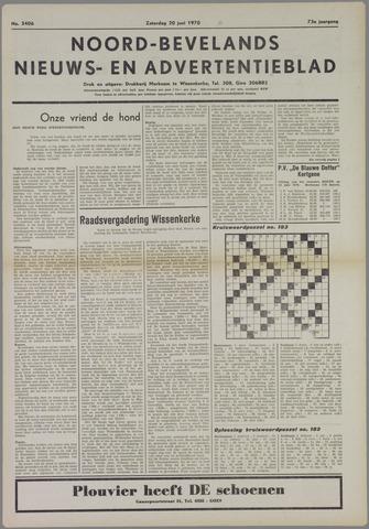 Noord-Bevelands Nieuws- en advertentieblad 1970-06-20