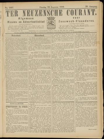 Ter Neuzensche Courant. Algemeen Nieuws- en Advertentieblad voor Zeeuwsch-Vlaanderen / Neuzensche Courant ... (idem) / (Algemeen) nieuws en advertentieblad voor Zeeuwsch-Vlaanderen 1910-08-23