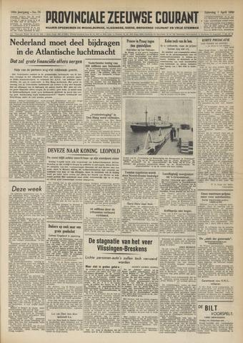 Provinciale Zeeuwse Courant 1950-04-01