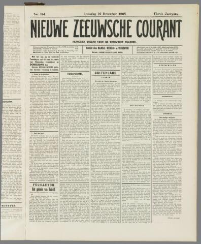 Nieuwe Zeeuwsche Courant 1908-12-22