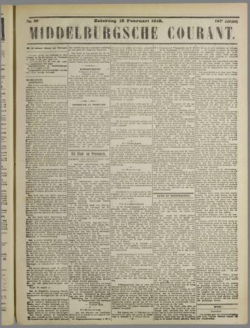 Middelburgsche Courant 1919-02-15
