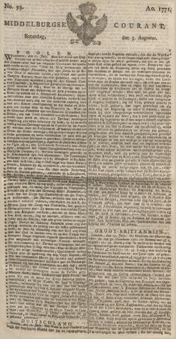 Middelburgsche Courant 1771-08-03