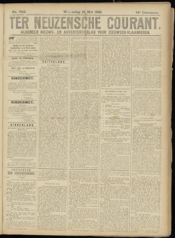 Ter Neuzensche Courant. Algemeen Nieuws- en Advertentieblad voor Zeeuwsch-Vlaanderen / Neuzensche Courant ... (idem) / (Algemeen) nieuws en advertentieblad voor Zeeuwsch-Vlaanderen 1924-05-28