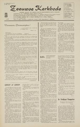 Zeeuwsche kerkbode, weekblad gewijd aan de belangen der gereformeerde kerken/ Zeeuwsch kerkblad 1968-05-30
