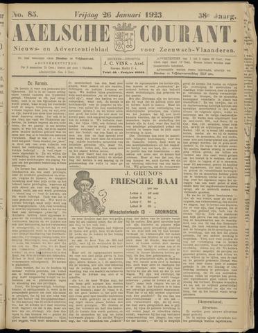 Axelsche Courant 1923-01-26