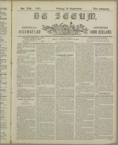 De Zeeuw. Christelijk-historisch nieuwsblad voor Zeeland 1910-09-16