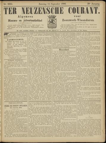 Ter Neuzensche Courant. Algemeen Nieuws- en Advertentieblad voor Zeeuwsch-Vlaanderen / Neuzensche Courant ... (idem) / (Algemeen) nieuws en advertentieblad voor Zeeuwsch-Vlaanderen 1886-09-11