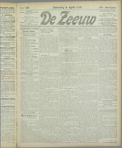 De Zeeuw. Christelijk-historisch nieuwsblad voor Zeeland 1919-04-05
