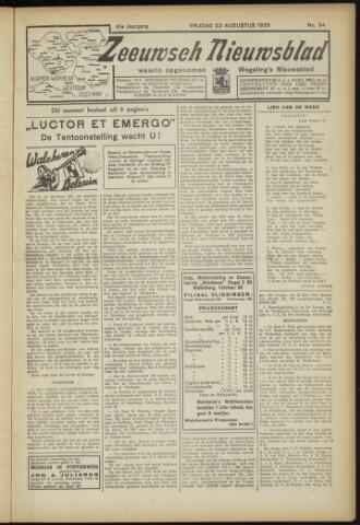 Zeeuwsch Nieuwsblad/Wegeling's Nieuwsblad 1935-08-23