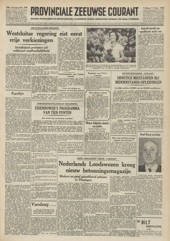 Provinciale Zeeuwse Courant 1952-09-05