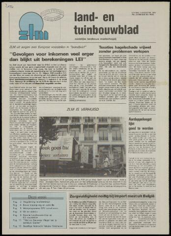 Zeeuwsch landbouwblad ... ZLM land- en tuinbouwblad 1991-08-09