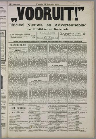 """""""Vooruit!""""Officieel Nieuws- en Advertentieblad voor Overflakkee en Goedereede 1912-09-11"""