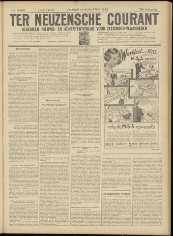 Ter Neuzensche Courant. Algemeen Nieuws- en Advertentieblad voor Zeeuwsch-Vlaanderen / Neuzensche Courant ... (idem) / (Algemeen) nieuws en advertentieblad voor Zeeuwsch-Vlaanderen 1936-08-14