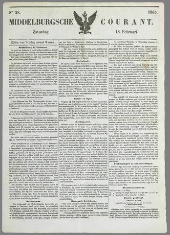 Middelburgsche Courant 1865-02-18