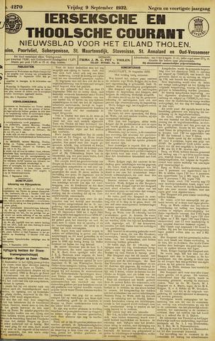 Ierseksche en Thoolsche Courant 1932-09-09