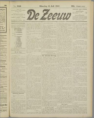 De Zeeuw. Christelijk-historisch nieuwsblad voor Zeeland 1915-07-06