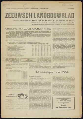 Zeeuwsch landbouwblad ... ZLM land- en tuinbouwblad 1954-01-09