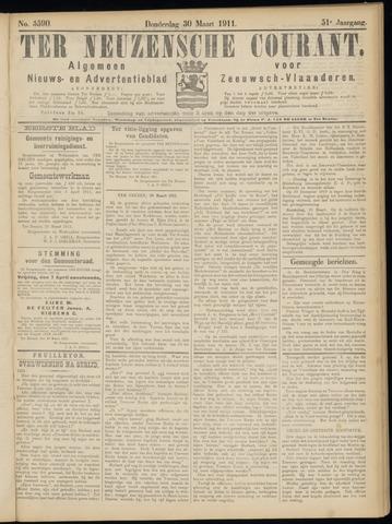 Ter Neuzensche Courant. Algemeen Nieuws- en Advertentieblad voor Zeeuwsch-Vlaanderen / Neuzensche Courant ... (idem) / (Algemeen) nieuws en advertentieblad voor Zeeuwsch-Vlaanderen 1911-03-30