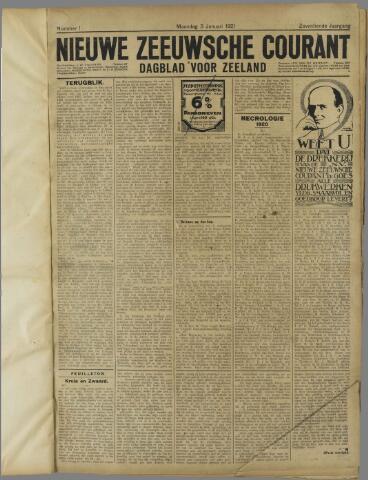 Nieuwe Zeeuwsche Courant 1921