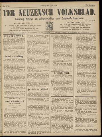 Ter Neuzensch Volksblad. Vrijzinnig nieuws- en advertentieblad voor Zeeuwsch- Vlaanderen / Zeeuwsch Nieuwsblad. Nieuws- en advertentieblad voor Zeeland 1911-06-17