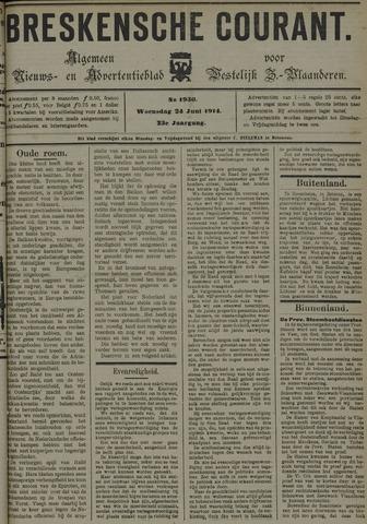 Breskensche Courant 1914-06-24