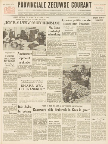 Provinciale Zeeuwse Courant 1965-07-22