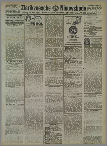 Zierikzeesche Nieuwsbode 1930-01-31