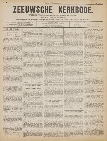 Zeeuwsche kerkbode, weekblad gewijd aan de belangen der gereformeerde kerken/ Zeeuwsch kerkblad 1936-11-20