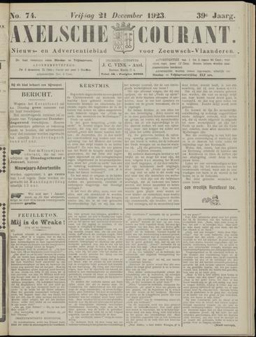Axelsche Courant 1923-12-21