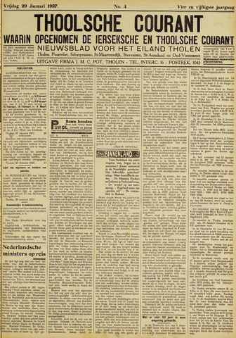 Ierseksche en Thoolsche Courant 1937-01-29