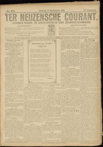 Ter Neuzensche Courant. Algemeen Nieuws- en Advertentieblad voor Zeeuwsch-Vlaanderen / Neuzensche Courant ... (idem) / (Algemeen) nieuws en advertentieblad voor Zeeuwsch-Vlaanderen 1918-09-03