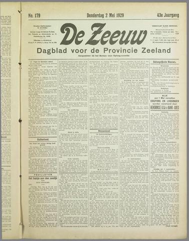 De Zeeuw. Christelijk-historisch nieuwsblad voor Zeeland 1929-05-02